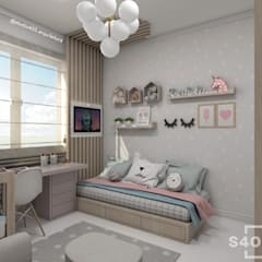 Girls Bedroom by STUDIO 405 - ARQUITETURA & INTERIORES