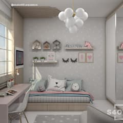 Girls Bedroom by STUDIO 405 - ARQUITETURA & INTERIORES,