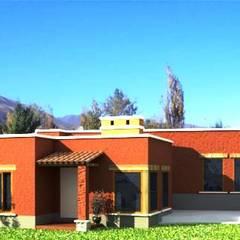 Diseño de casa en Tafí del Valle por A3 Arquitectas: Casas unifamiliares de estilo  por Sofía Lopez Arquitecta,Moderno