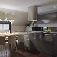 Tolga Archıtects – Bakü S House: modern tarz Mutfak