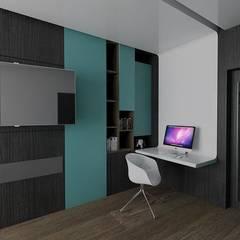 Casa M: Estudios y oficinas de estilo  por emARTquitectura