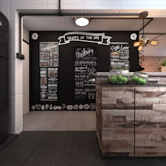 Chalkboard Wall at Foyer Area:  Koridor dan lorong by March Atelier