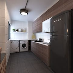Kitchen and Laundry:  Dapur built in by March Atelier
