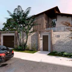 Casa RN-17: Casas familiares  por Agenor Gomes Arquitetura + Design
