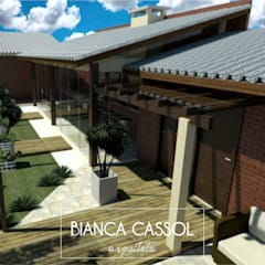 AT Lazer: Casas do campo e fazendas  por BIANCA CASSOL ARQUITETA