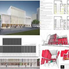 Concurso REMODELACIÓN TEATRO LASSERRE (2° premio): Salas de eventos de estilo  por Mauricio Morra Arquitectos