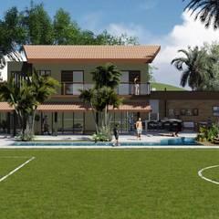 منازل تنفيذ Hamilton Turola Arquitetura e Design, ريفي