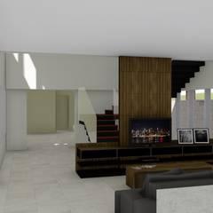 Living room by Hamilton Turola Arquitetura e Design, Rustic