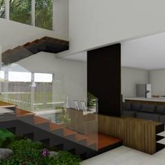 Stairs by Hamilton Turola Arquitetura e Design, Rustic