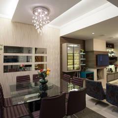 Sala Estar e Jantar - Residência Tristeza: Salas de jantar  por INOVA Arquitetura