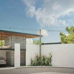 Fachada : Casas unifamiliares de estilo  por DELTA