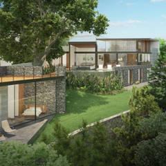 Fachada Jardin: Casas unifamiliares de estilo  por DELTA