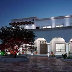 PROYECTO JRB NOCHE: Casas de campo de estilo  por Francisco Cruz & Arquitectos