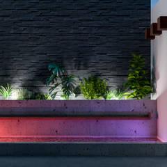 FUENTE DE NOCHE: Albercas de jardín de estilo  por Francisco Cruz & Arquitectos