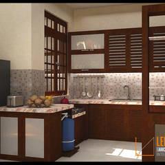Modern Minimalist House:  Dapur by CV Leilinor Architect