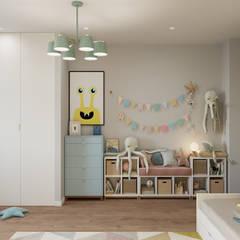 Kinderkamer door Студия архитектуры и дизайна Дарьи Ельниковой