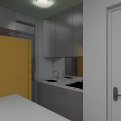 Cozinha: Armários e bancadas de cozinha  por Paes de Andrade Arquitetura