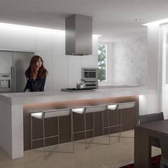 5 Casas en Miami: Cocinas de estilo  por RRA Arquitectura,