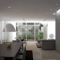 5 Casas en Miami: Salas / recibidores de estilo  por RRA Arquitectura,