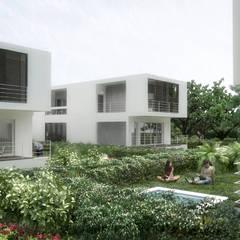 5 Casas en Miami: Piscinas de jardín de estilo  por RRA Arquitectura