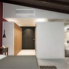 Lomas de Las Mercedes: Cuartos de estilo  por RRA Arquitectura, Minimalista Madera Acabado en madera