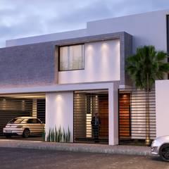 CASA S+V: Villas de estilo  por arquitectura+proyectos