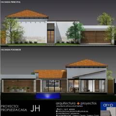 CASA HJ: Villas de estilo  por arquitectura+proyectos
