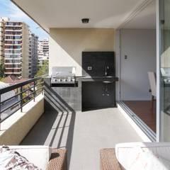 Departamento Las Hortencias: Viviendas colectivas de estilo  por Crescente Böhme Arquitectos