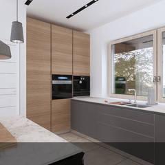 szara z drewnem2: styl , w kategorii Kuchnia na wymiar zaprojektowany przez INTUS DeSiGn