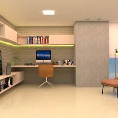 Home-office: Escritórios  por Mais Arquitetura Paraíba