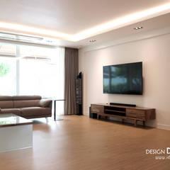 Living room by 디자인담다