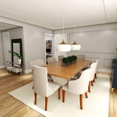 SALA DE JANTAR: Salas de jantar clássicas por Studio M Arquitetura