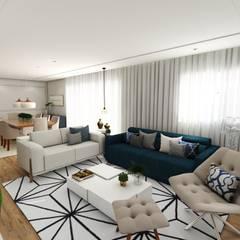ESTAR E JANTAR: Salas de estar clássicas por Studio M Arquitetura