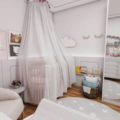 Nursery/kid's room by Studio M Arquitetura
