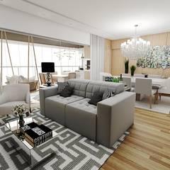 Living room by Studio M Arquitetura