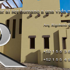 Maquetas virtuales de casa habitación en imágenes renders: Casas unifamiliares de estilo  por RIANSLARQUITECTOS