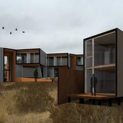 Bungalows de estilo  por Crescente Böhme Arquitectos,