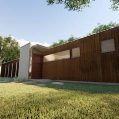 Passive house by BIM Urbano, Minimalist Iron/Steel