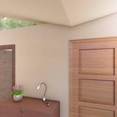 Hall distribuidor_ acceso: Pasillos y hall de entrada de estilo  por BIM Urbano