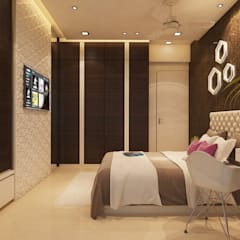 Bedroom by n design studio, Minimalist