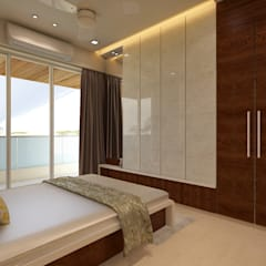 Guest Bedroom : minimalistic Bedroom by n design studio