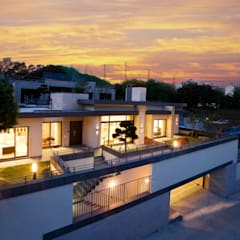 Villa a schiera in stile  di Design Tomorrow INC.