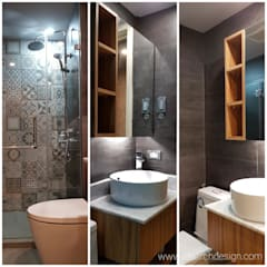 Rustic Vibe at Azure Urban Residences, Paranaque City:  Bathroom by Idear Architectural Design Consultancy