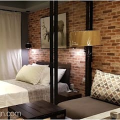 Rustic Vibe at Azure Urban Residences, Paranaque City:  Bedroom by Idear Architectural Design Consultancy