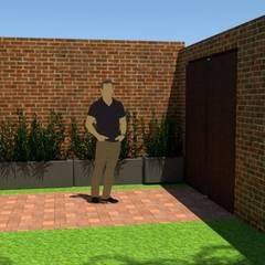 acceso: Casas de estilo  por Fire Design AR