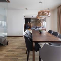 Dom w Margoninie 2: styl , w kategorii Jadalnia zaprojektowany przez EWEM Aranżacja wnętrz Edyta Wełnicka