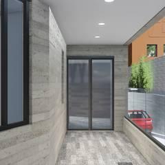 Edificio de oficinas en Vito Alessio Robles: Edificios de Oficinas de estilo  por BIM Arquitectos S.A. de C.V.