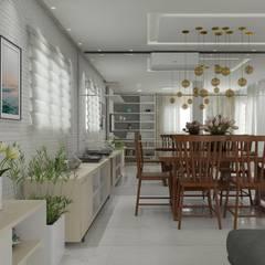 sala de estar clean: Salas de estar  por Janaira Morr & Rachel Maia