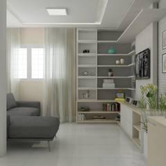 sala de estar : Salas de estar escandinavas por Janaira Morr & Rachel Maia