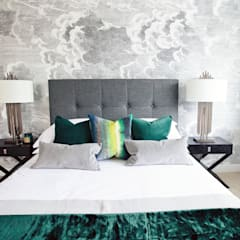 Worts Causeway Show Home:  Bedroom by Sara Slade Interiors